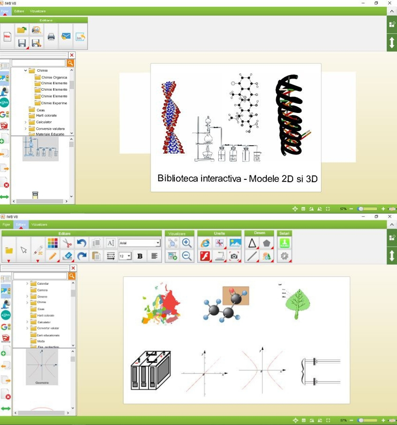 "Tabla Interactiva IQboard Expert - Diagonala 83"" biblioteca virtuala"