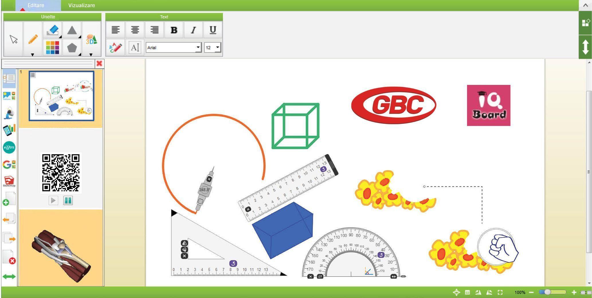 "Tabla Interactiva  IQboard Expert - Diagonala 83"" | 210 cm"