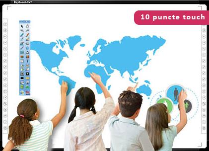 "Tabla interactiva Foundation 82"" pachet rainbow elevi colaborare"
